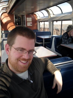 Chillin' on the observation car of the California Zephyr.
